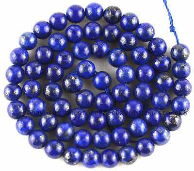 5mm blue Lapis Lazuli round gemstone Beads 15""