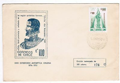 Chile 1974-5 Cover XXIX Antarctic Expedition