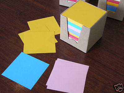 Lot de 6 Bloc-notes CUBES de 600 feuillets multicolores
