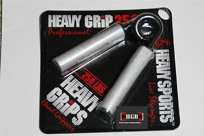 NEW Heavy Grips Hand Grippers HG250 Professional BUILD GRIP + Finger Bands