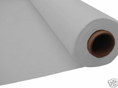 100ft SILVER Plastic Banquet Roll Table Cover Buffet
