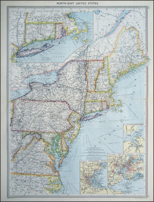 AMERICA UNITED STATES NORTH EAST CENTRAL 2  MAPS c.1908