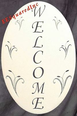 New 8X12 Oval WELCOME SIGN STATIC CLING WINDOW & DOOR DECAL Decor for Glass