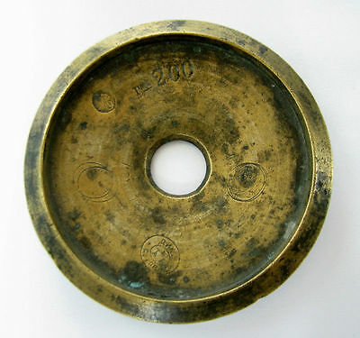Antique Ottoman Turkish Weight Brass Dirhem Marks #2