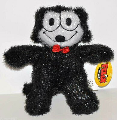 "New Felix The Cat Plush Doll 8"" Hard To Find Free Ship"