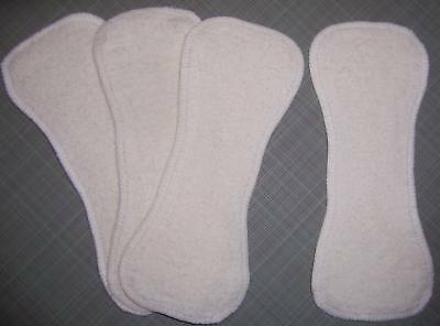 12 Newborn Hemp Organic Cotton Fleece Cloth Diaper Liners Doubler Kushies Soaker