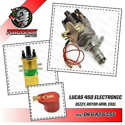 Lotus Electronic distributor 45D4 & Lucas Gold Sports Coil