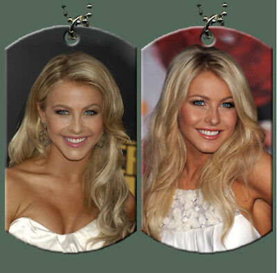 Julianne Hough Dog Tag with Beaded Chain
