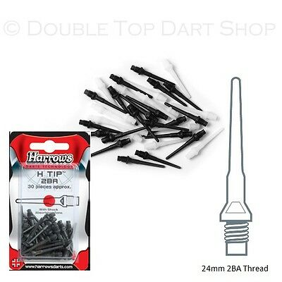 HARROWS H TIP strong spare tips for Softip Darts 30 pieces-All Black