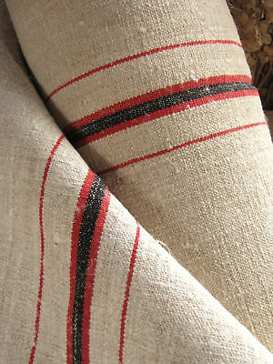 Vintage homespun linen fabric material 1YD upholstery !
