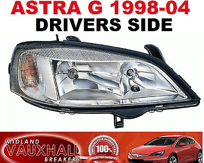 Vauxhall Astra G Mk4 98-04 Chrome Headlight Headlamp Right New Drivers Off Side