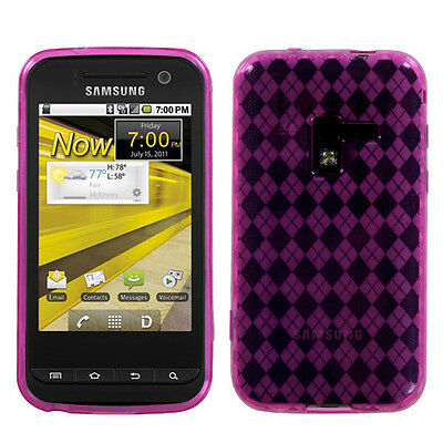 For Sprint Samsung Conquer 4G D600 TPU Candy FLEXI Crystal Skin Case Hot Pink