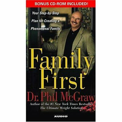 BOOK/AUDIOBOOK CASSETTE Dr. Phil Lot of 10 FAMILY FIRST