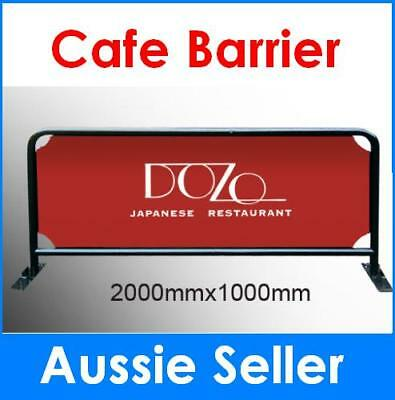 2m Cafe Barrier Barricade / Shop Barrier /coffee barrier printing