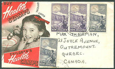NEW ZEALAND TO CANADA Old Cover VF