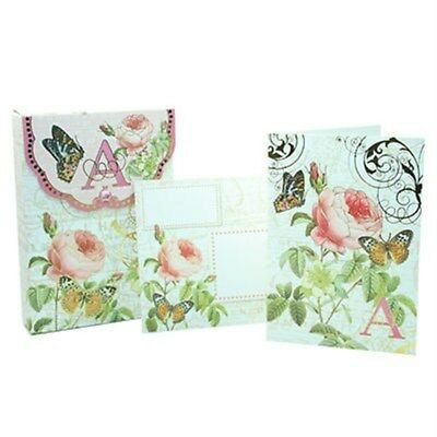 V PUNCH STUDIO FLORAL MONOGRAM POUCH NOTE CARDS #56976V