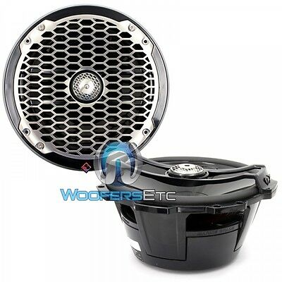 "Rockford Fosgate M282B 8"" Black Marine 2-Way Aluminum Tweeters Boat Speakers New"