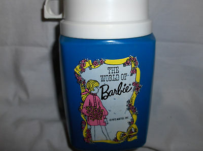 The World Of Barbie`1973`Plastic Thermos->Free To US