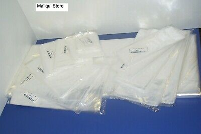100 CLEAR 8 x 24 POLY BAGS PLASTIC LAY FLAT OPEN TOP PACKING ULINE BEST 1 MIL