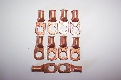 #4 Ga.x5/16 Copper Battery Cable Connector Lugs 10 Ea.