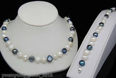 "MP"" Charming baroque pearl necklaces&bracelets 925s"