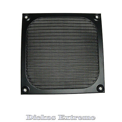 120mm Aluminium Fan Filter / Guard- Black