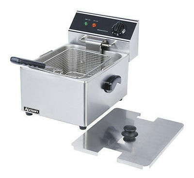 Commercial DEEP FRYER w/ Cover Adcraft DF-6L  15 LBS/HR Warranty NSF Approved
