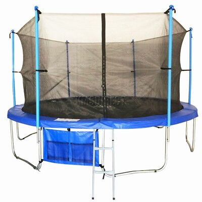 FoxHunter 14ft Trampoline with Ladder Net Enclosure Safety Padding Weather Cover