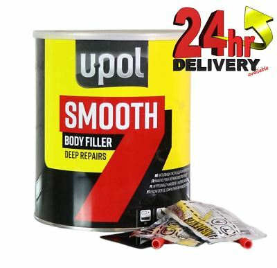 U-Pol Smooth 7 Car Body Filler 3.5L Litre Easy Sand Deep Dent Repair Upol