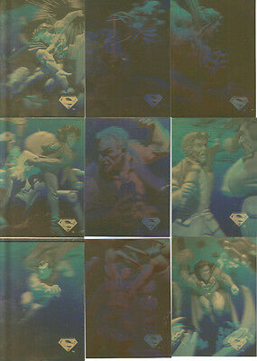 Superman Holo Series Gold or Silver Card Singles 2 for $1.49! Complete Your Set!