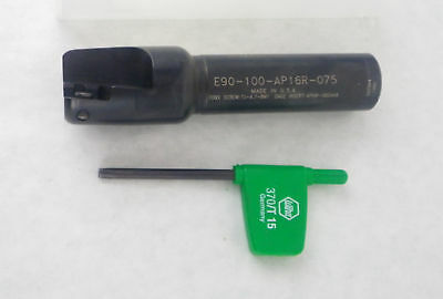 "INTERSTATE E90-100-AP16R-075 1"" Indexable End Mill i13"