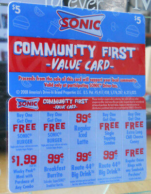 Sonic Drive-In $19+ Value Card