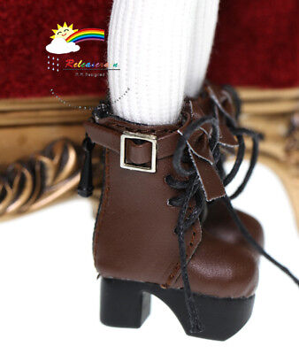 Blythe/Lati Yellow Shoes Victorian Leather Boots Choc