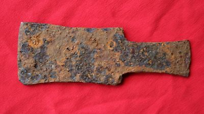 Celtic Ritual Battle Iron Axe Head.