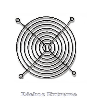 140mm Black wire fan grill / finger guard. For PC computer fan.