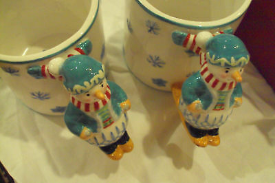 Set of 2 Waterford Holiday Heirloom Lismore Lyle Mugs