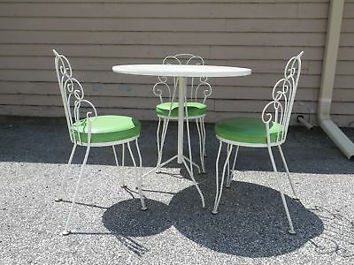 Regency Modern 3 Chairs/table Patio Set Mid-Century