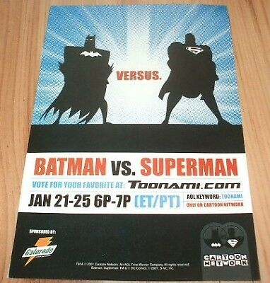 Batman vs Superman cartoon-2002 magazine advert