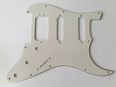 Stratocaster HSS humbucker pickguard floyd rose 3ply parchment fits fender new