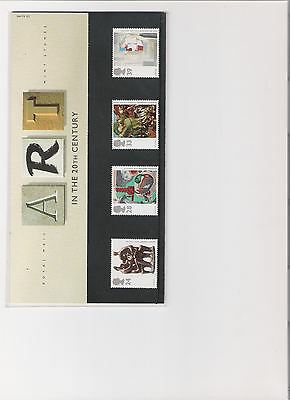 1993 Royal Mail Presentation Pack Art In 20Th Centutury Mint Decimal Stamps