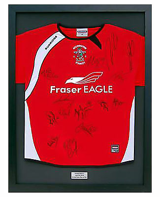 Ready Made  Frame For   Signed Shirt + Engraved Plaque With Your Wording