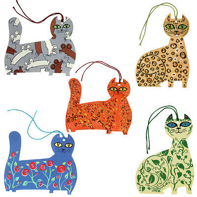 150 Contemporary Cat Gift Tags by Helen Lang ET0028