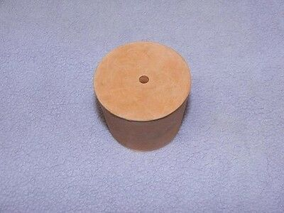 Rubber Stopper 25mm 1-Hole Red Bung Taprered Laboratory Sci NEW