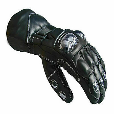 Mens Motorbike Motorcycle Leather Gloves Waterproof Protection Winter Summer