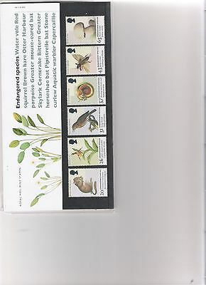 1998 Royal Mail Presentation Pack Endangered Species Mint Decimal Stamps
