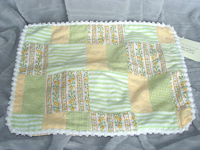 Wendy Bellissimo Patches Flowers Yellow Green Pillow Sham Cover Zipper