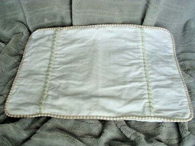 Wendy Bellissimo PILLOW SHAM WHITE LINEN & CHENILLE
