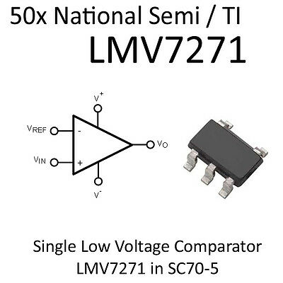50x Comparator LMV7271 R2R-In SC70-5, On Tape National