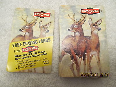1980s Playing Cards Advertise Ray-O-Vac Batteries Deer