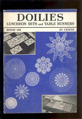 1930s DOILIES, LUNCHEON SETS & TABLE RUNNERS PATTERNS